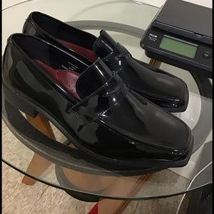 Jean Yves black Newport wedding shoes!!